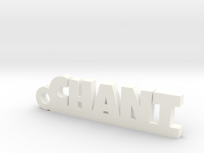 CHANT Keychain Lucky in White Processed Versatile Plastic