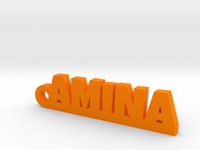AMINA Keychain Lucky in Orange Processed Versatile Plastic