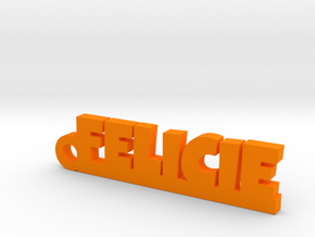FELICIE Keychain Lucky in Orange Processed Versatile Plastic
