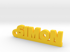 SIMON Keychain Lucky in Natural Brass