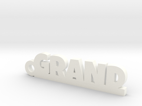 GRAND Keychain Lucky in White Strong & Flexible Polished