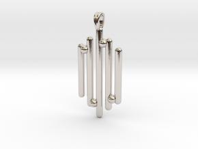 Eclectic Pendant Symbolic Jewelry Pendant in Platinum