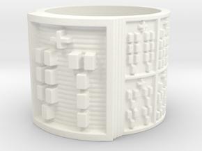 OSAKANA Ring Size 11-13 in White Processed Versatile Plastic: 13 / 69