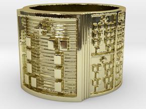 OSAOGUNDA Ring Size 14 in 18k Gold Plated Brass