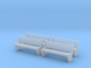 TJ-H04554x4 - bancs de quai en béton in Smooth Fine Detail Plastic