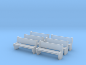 TJ-H04554x6 - bancs de quai en beton in Smooth Fine Detail Plastic