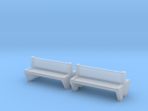 TJ-H04555x2 - bancs de quai en beton, doubles in Frosted Ultra Detail
