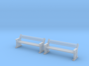 TJ-H04556x2 - bancs de quai en bois in Smooth Fine Detail Plastic