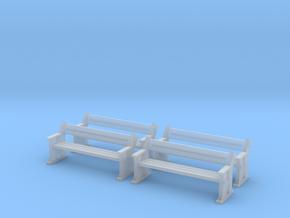 TJ-H04556x4 - bancs de quai en bois in Smooth Fine Detail Plastic