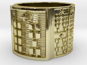 OTRUPONYEKUN Ring Size 14 in 18k Gold Plated Brass