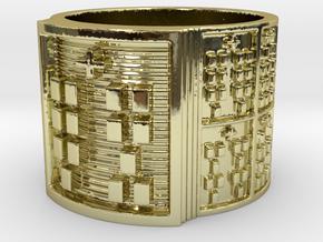 OTRUPONKANA Ring Size 14 in 18k Gold Plated Brass