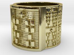 OTRUPONBALOFUN Ring Size 11-13 in 18k Gold Plated: 12 / 66.5