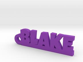 BLAKE Keychain Lucky in Purple Processed Versatile Plastic