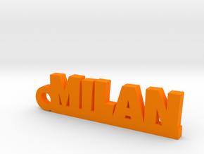 MILAN Keychain Lucky in Orange Processed Versatile Plastic