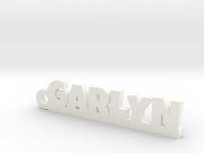 GARLYN Keychain Lucky in White Processed Versatile Plastic