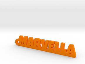 MARVELLA Keychain Lucky in Polished Bronzed Silver Steel