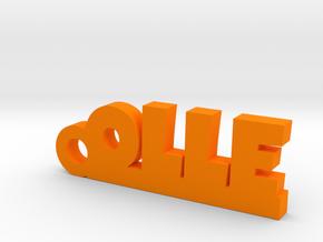 OLLE Keychain Lucky in Orange Processed Versatile Plastic