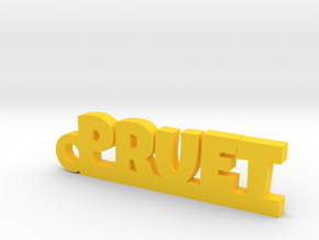 PRUET Keychain Lucky in Yellow Processed Versatile Plastic