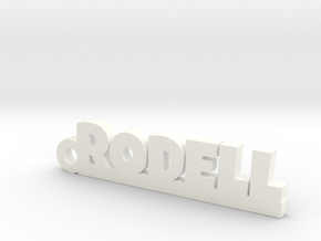 RODELL Keychain Lucky in Rhodium Plated Brass