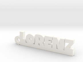 LORENZ Keychain Lucky in Polished Bronzed Silver Steel