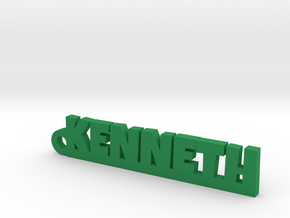 KENNETH Keychain Lucky in Green Strong & Flexible Polished