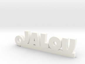 JALOU Keychain Lucky in White Processed Versatile Plastic