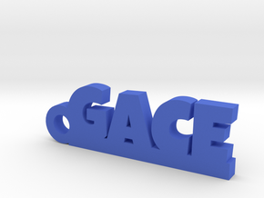 GACE Keychain Lucky in Blue Processed Versatile Plastic