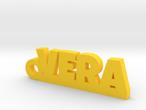 VERA Keychain Lucky in Yellow Strong & Flexible Polished