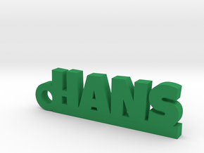 HANS Keychain Lucky in Green Processed Versatile Plastic