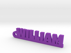WILLIAM Keychain Lucky in Purple Processed Versatile Plastic
