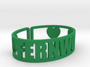 Fernwood Cuff in Green Strong & Flexible Polished