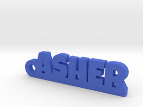 ASHER Keychain Lucky in Blue Processed Versatile Plastic