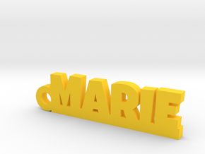 MARIE Keychain Lucky in Yellow Strong & Flexible Polished