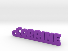 CORRINE Keychain Lucky in Purple Strong & Flexible Polished