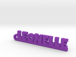 LEONELLE Keychain Lucky in Purple Strong & Flexible Polished
