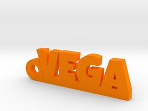 VEGA Keychain Lucky in Orange Strong & Flexible Polished