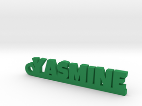 YASMINE Keychain Lucky in Green Strong & Flexible Polished