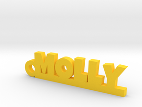 MOLLY Keychain Lucky in Yellow Strong & Flexible Polished