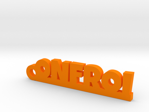 ONFROI Keychain Lucky in Orange Strong & Flexible Polished