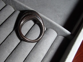 Ring size 8 in Polished Grey Steel