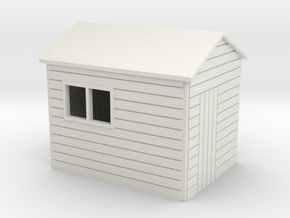 Garden Shed 8x6 ft 7mm scale in White Natural Versatile Plastic