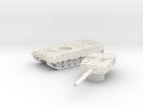 Leopard II tank (Germany) 1/100 in White Natural Versatile Plastic