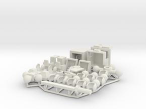 Samurai mecha PHIBRIX in White Natural Versatile Plastic: Medium