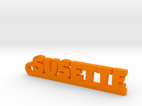 SUSETTE Keychain Lucky in Orange Processed Versatile Plastic