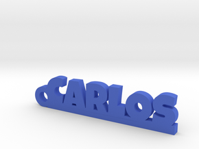 CARLOS Keychain Lucky in Rhodium Plated Brass