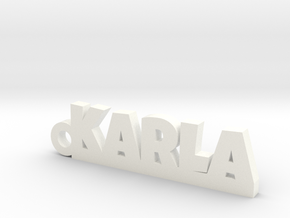 KARLA Keychain Lucky in White Strong & Flexible Polished