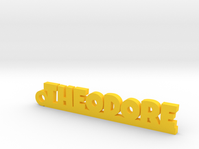 THEODORE Keychain Lucky in Yellow Strong & Flexible Polished