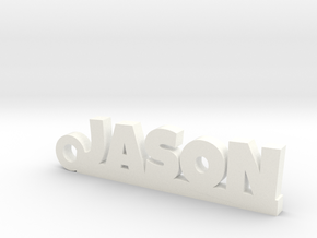 JASON Keychain Lucky in White Strong & Flexible Polished
