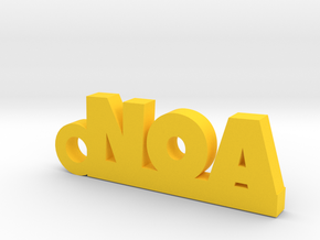 NOA Keychain Lucky in Yellow Processed Versatile Plastic