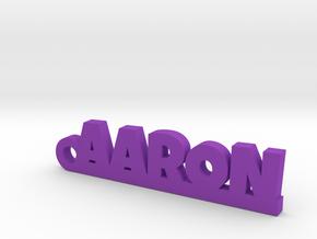 AARON Keychain Lucky in Purple Processed Versatile Plastic